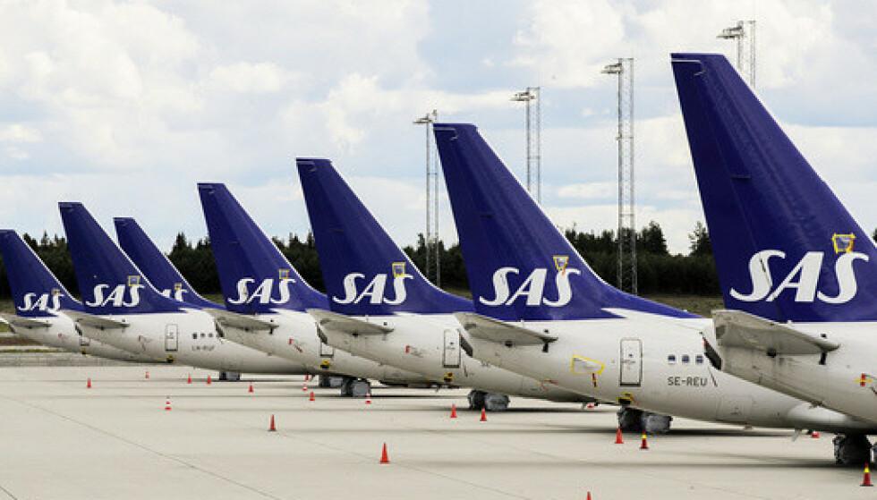 SAS mistet nesten ni av ti passasjerer i november, sammenlignet med samme måned i 2019. Foto: Vidar Ruud / NTB