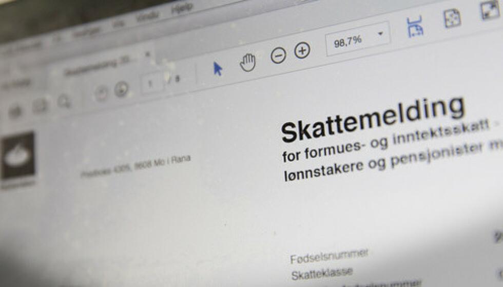 Skatteetaten etterlever ikke kravene til universell utforming av IKT i skattemeldinga, mener tilsyn. Foto: Terje Bendiksby / NTB