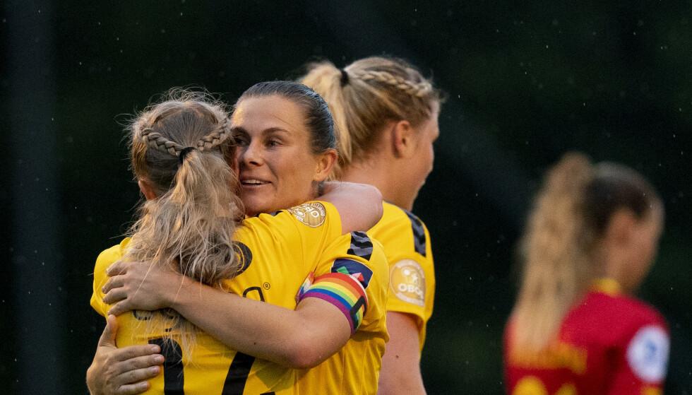 Emilie Haavi var sentral da LSK Kvinner la grunnlaget for avansement til mesterligaens åttedelsfinale. Foto: Fredrik Hagen / NTB