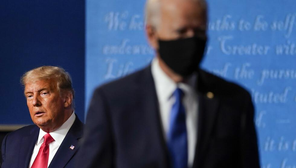 President Donald Trump tapte presidentvalget mot demokraten Joe Biden, men har nektet å erkjenne nederlag. Arkivfoto: AP / NTB