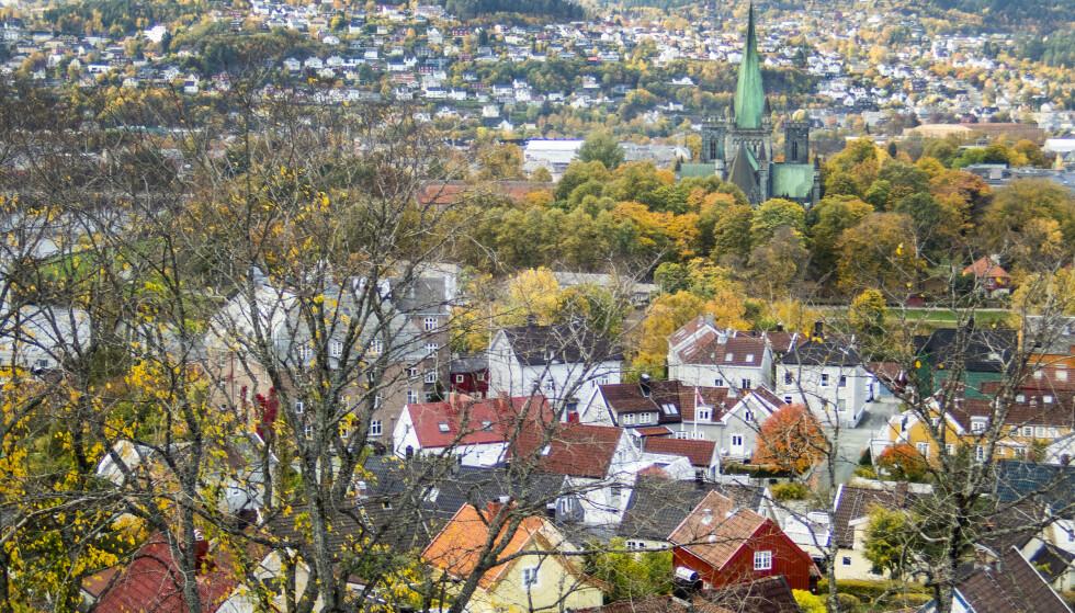 Nidarosdomen, Pappenheim og Trondheim by sett fra Kristiansten festning. Foto: Gorm Kallestad / NTB