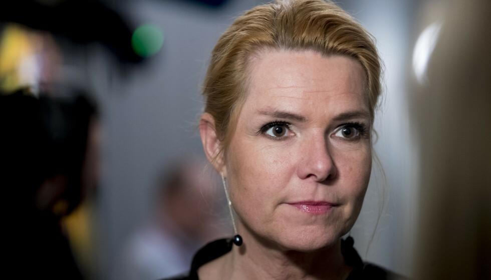Danmarks tidligere utlendings- og integrasjonsminister Inger Støjberg, fra det tidligere regjeringspartiet Venstre, kan bli stilt for riksrett. Arkivfoto: Vidar Ruud / NTB