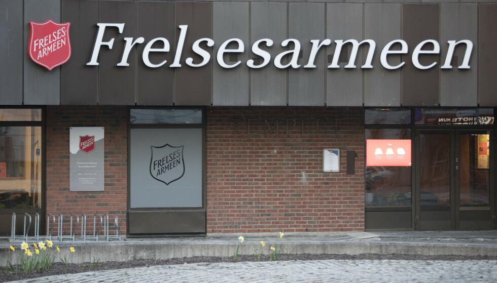 Ansatte i Frelsesarmeen er blant dem som blir tatt ut i streik etter at NHO og Fagforbundet ikke kom til enighet i oppgjøret for private behandlingsinstitusjoner. Foto: Terje Pedersen / NTB