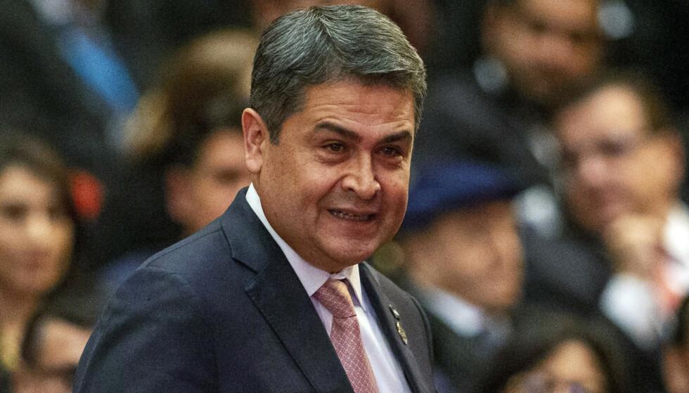 Honduras' president Juan Orlando Hernandez er i hardt vær i det amerikanske rettsvesenet. Foto: Moises Castillo / AP / NTB