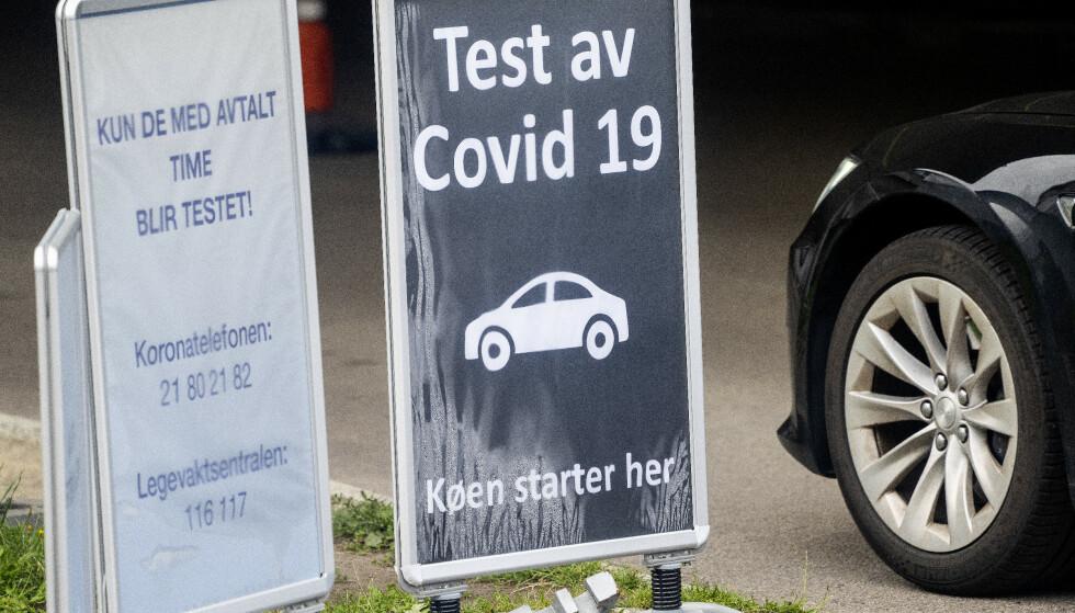 Det siste døgnet er det registrert 443 koronasmittede i Norge. Det er 114 flere enn samme dag i forrige uke. Foto: Gorm Kallestad / NTB