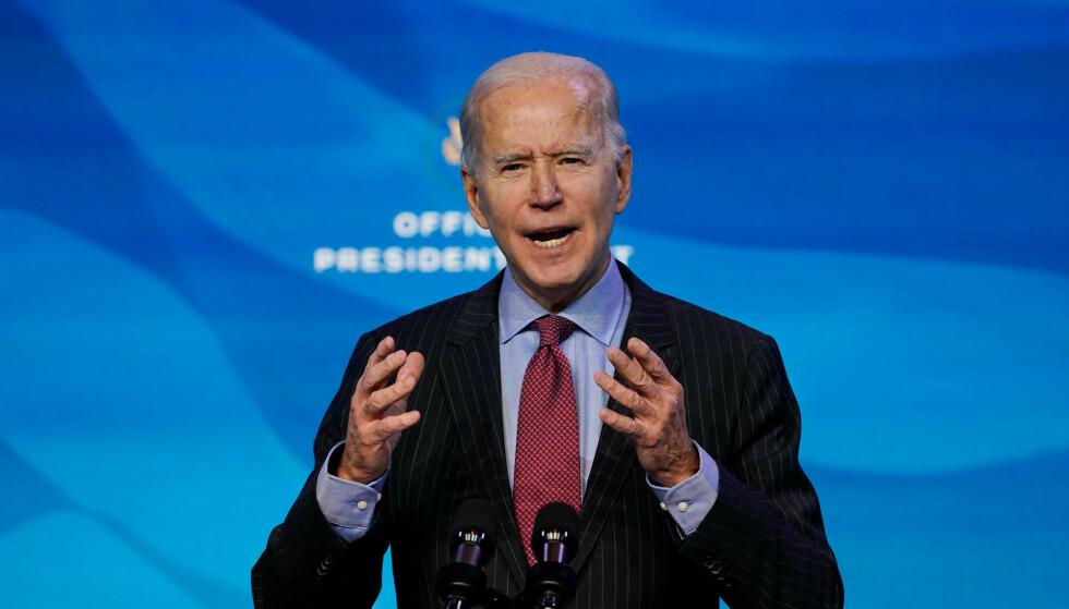 Joe Biden kan få et problem dersom Demokratene i Kongressen går videre med riksrettsforslaget, mot Republikanernes ønsker. Foto: Susan Walsh / AP / NTB