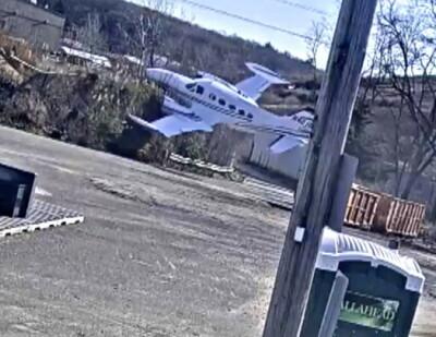Image: Her styrter flyet