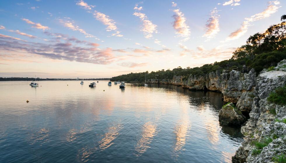 En hai angrep en mann i 50-årene ved det populære badestedet Blackwall i den australske storbyen Perth. Foto: NTB scanpix