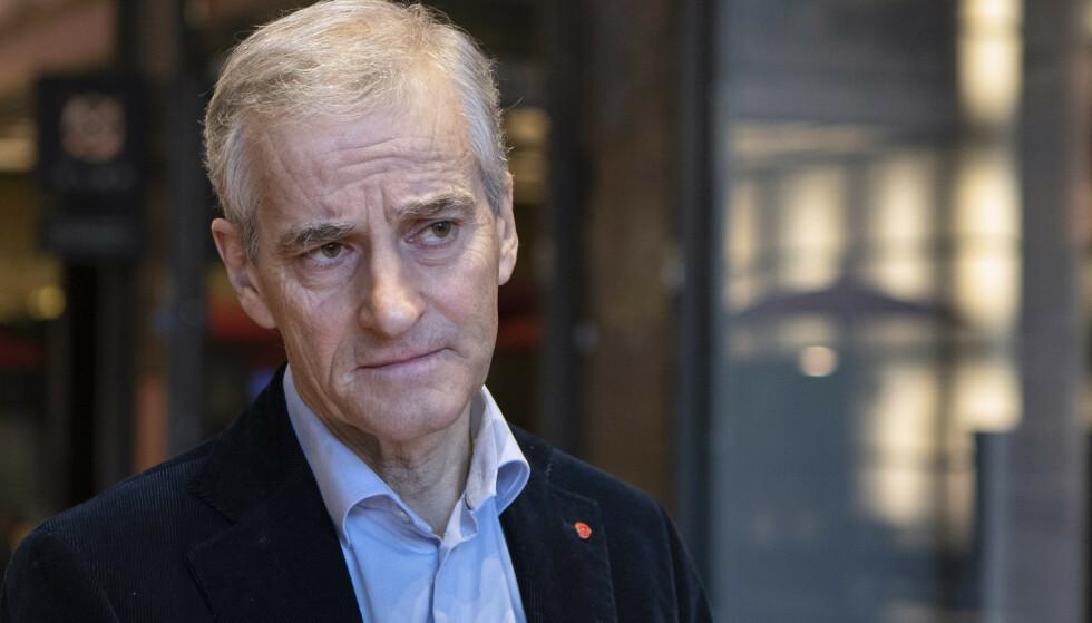Ap-leder Jonas Gahr Støre sliter med oppslutningen i eget parti, ifølge en meningsmåling. Foto: Paul Kleiven/NTB