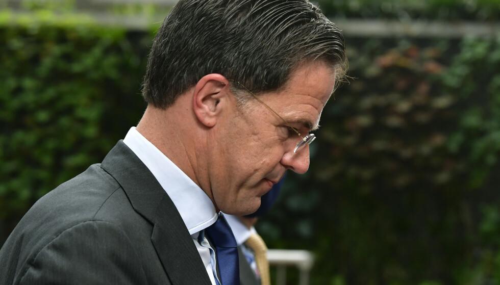 Trygdeskandalen som er avdekket i Nederland, har ført til at Mark Ruttes regjering går av. Arkivfoto: John Thys / AP / NTB