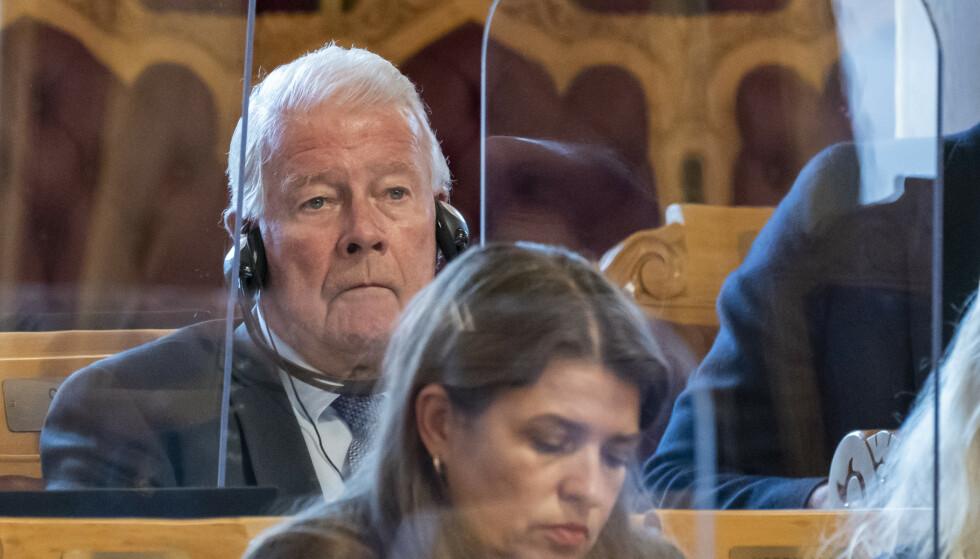 Carl I. Hagen (Frp) kan bli den eneste stortingsrepresentanten over 70 år etter valget om åtte måneder. Foto: Heiko Junge / NTB