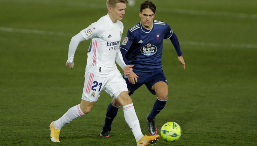 Martin Ødegaard har slitt med å få spilletid i Real Madrid denne sesongen. Foto: Manu Fernandez /AP/NTB