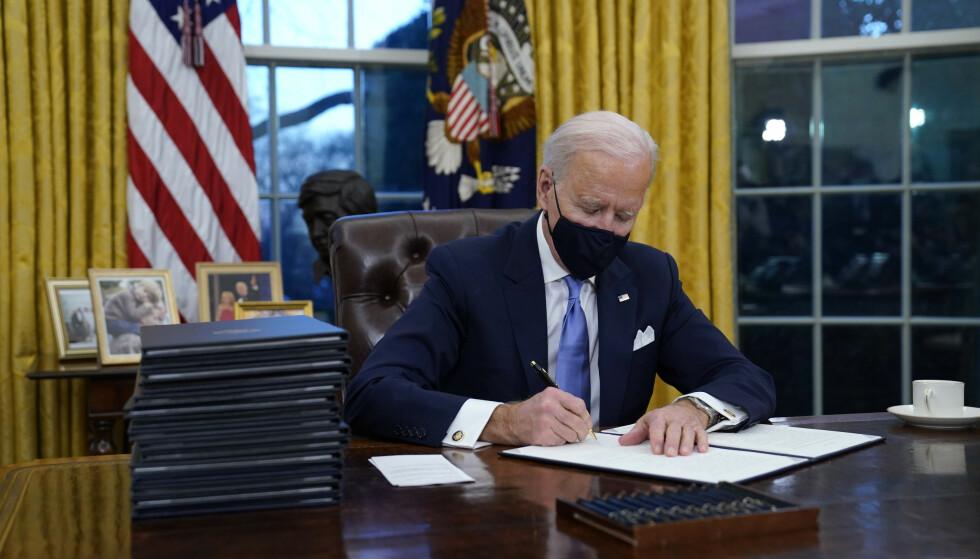President Joe Biden vil i likhet med Russland forlenge Ny Start-avtalen om atomvåpen som utløper 5. februar, ifølge Washington Post. Foto: AP / NTB