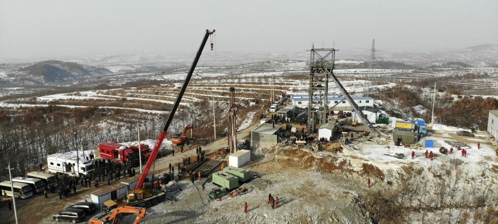 Gruvearbeider reddet etter to uker i Kina