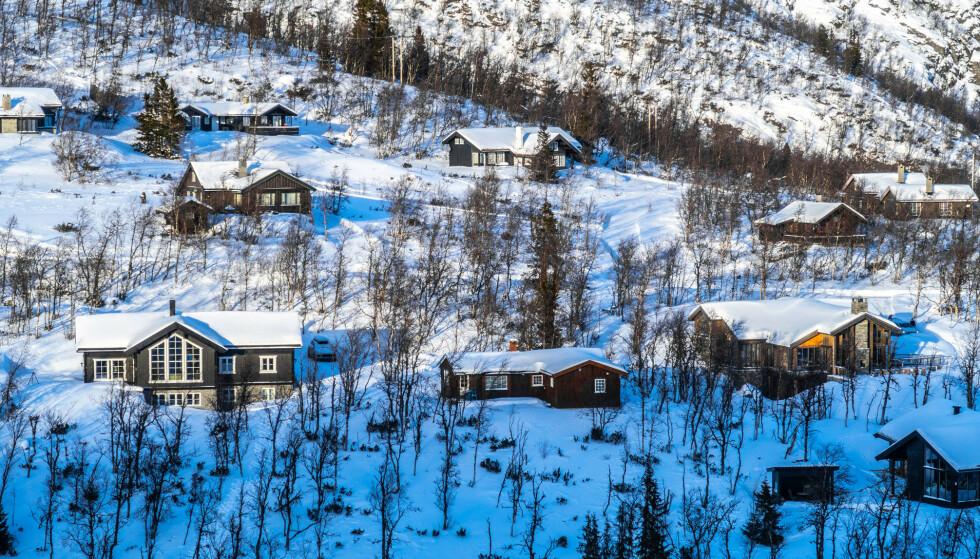 Hytter i Holdeskaret ved Hemsedal Skisenter. Foto: Halvard Alvik / NTB