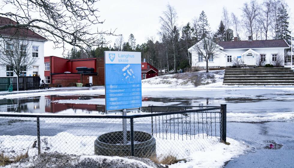 Det går mot gjenåpning på Langhus skole. Foto: Torstein Bøe / NTB