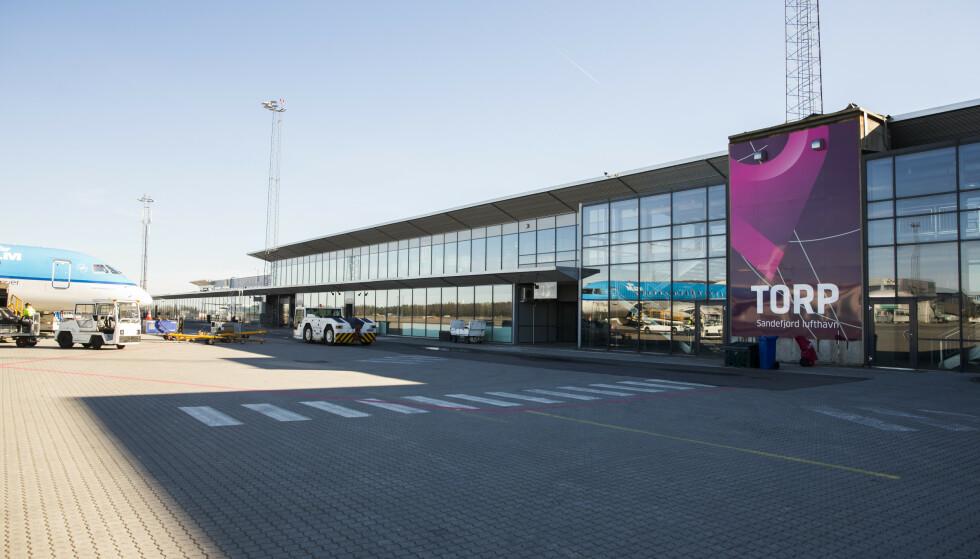 Torp lufthavn i Sandefjord og øvrige flyplasser er hardt rammet av koronapandemien. Foto: Berit Roald / NTB