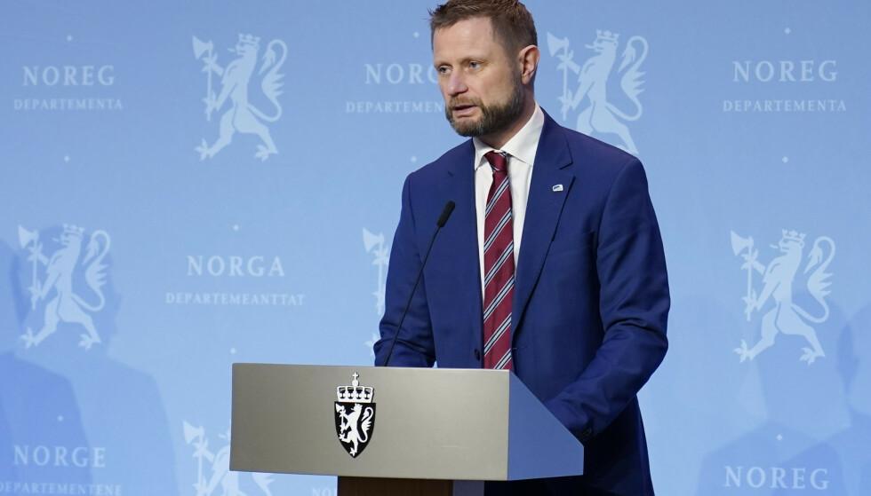 Helse- og omsorgsminister Bent Høie (H) presenterte lørdag oppdaterte tiltak for hovedstadsregionen. Foto: Håkon Mosvold Larsen / NTB