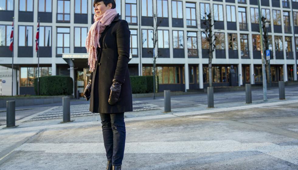 Utenriksminister Ine Eriksen Søreide utenfor utenriksdepartementet i Oslo. Foto: Fredrik Hagen / NTB
