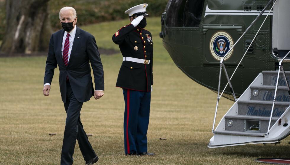 President Joe Biden sier at USA kommer til å forsvare demokratier verden over. Foto: Evan Vucci / AP / NTB
