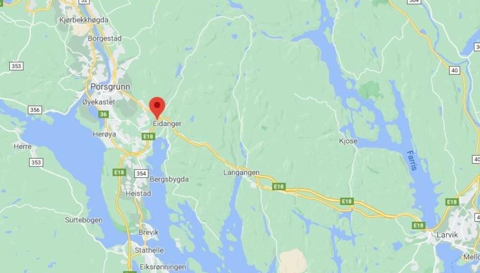 19-åring kjørte i 265 kilometer i timen med en Audi A7. Foto: Google Maps.