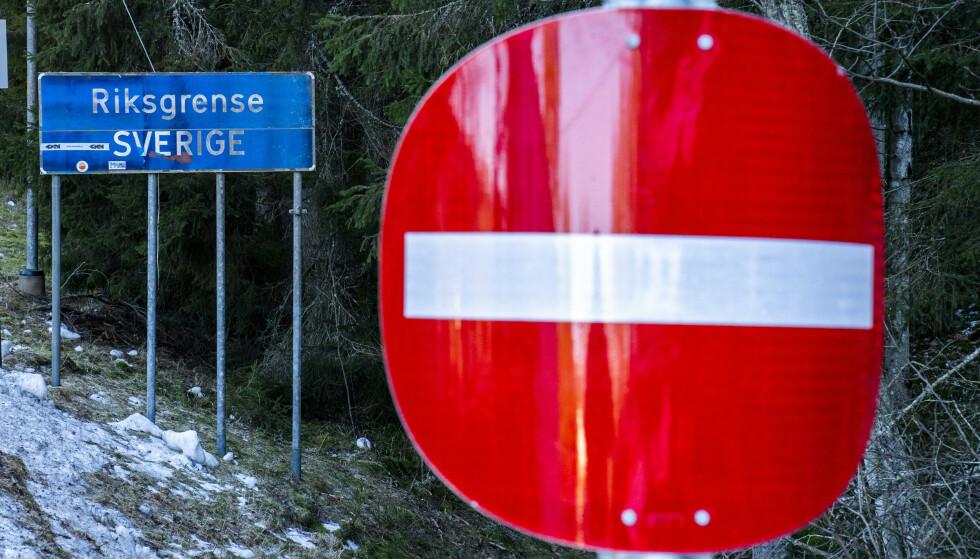 Fem østeuropeere fikk forelegg på 5.000 kroner hver da de forsøkte å krysse grensen til Norge ved en stengt grenseovergang i Kongsvinger kommune. Foto: Torstein Bøe / NTB
