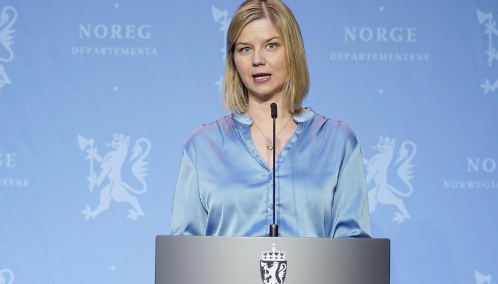 Kunnskapsminister Guri Melby (V) vil mandag informere om vårens eksamen ungdomsskole og videregående skole. Foto: Håkon Mosvold Larsen / NTB