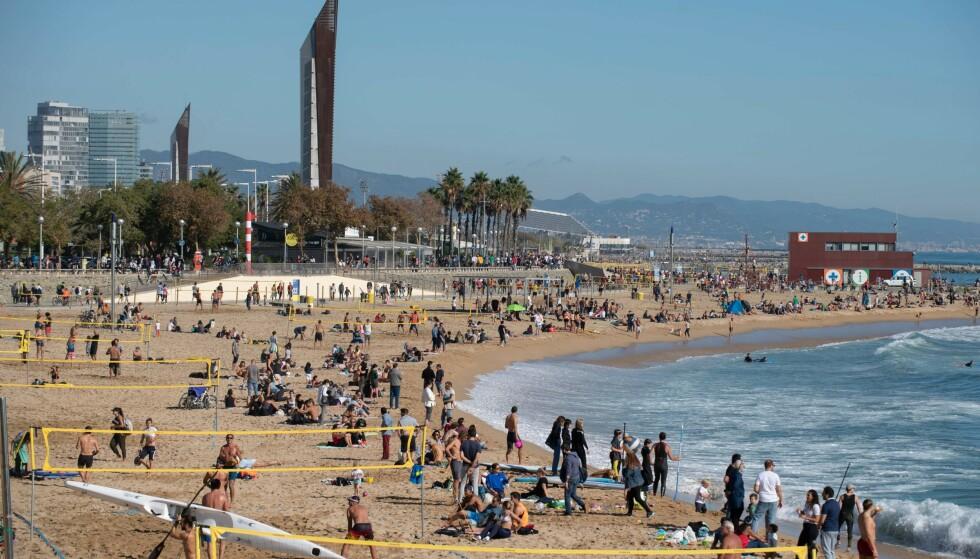 Bogatell beach i Barcelona. (Foto: AFP/Scanpix)