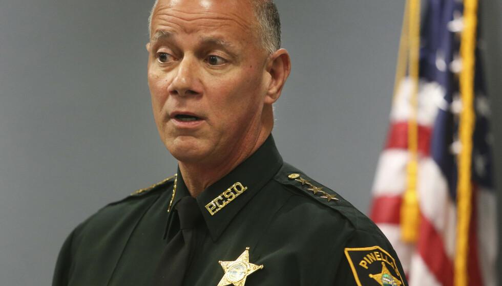 Sheriff Bob Gualtieri i Pinellas County. (Foto: AP/NTB)