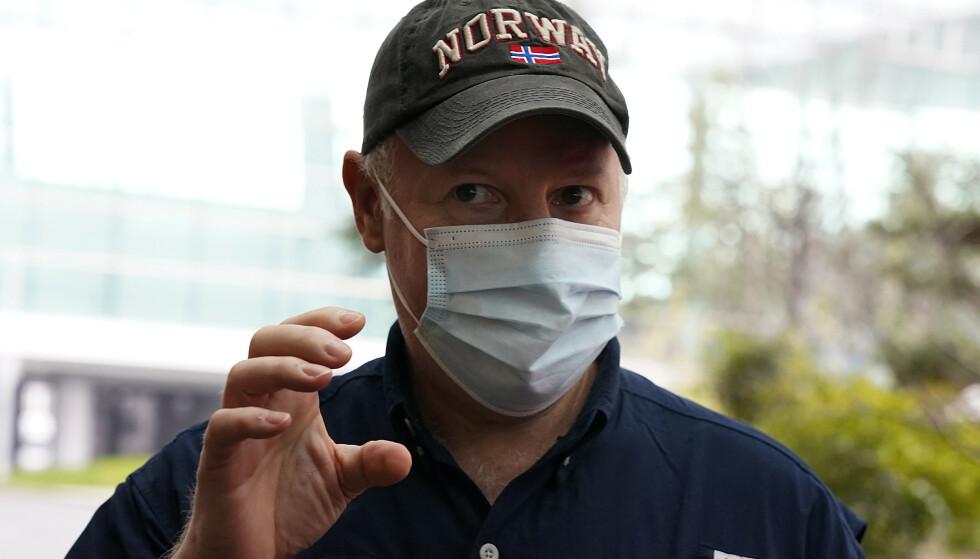 Den britiske zoologen Peter Daszak forlot onsdag Wuhan etter at Verdens helseorganisasjon avsluttet sin gransking av opphavet til koronaviruset i byen. Foto: Ng Han Guan/ AP/ NTB