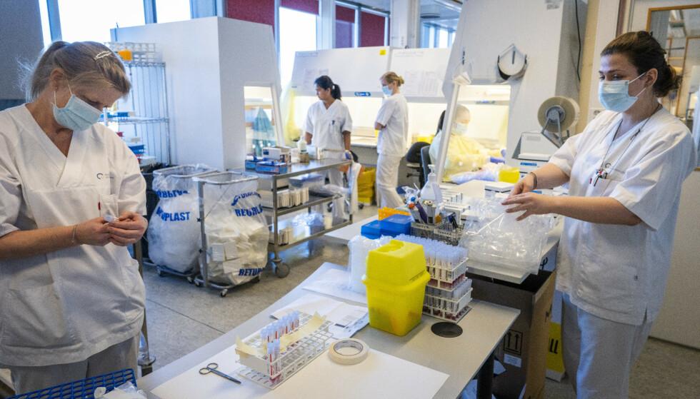 Om Norge og verden rammes av en ny pandemi i fremtiden, vil alt av innkjøpt pandemi-utstyr, samt helsepersonell, raskt kunne settes sammen til en funksjonell pandemilab i løpet av svært kort tid. Foto: Heiko Junge / NTB