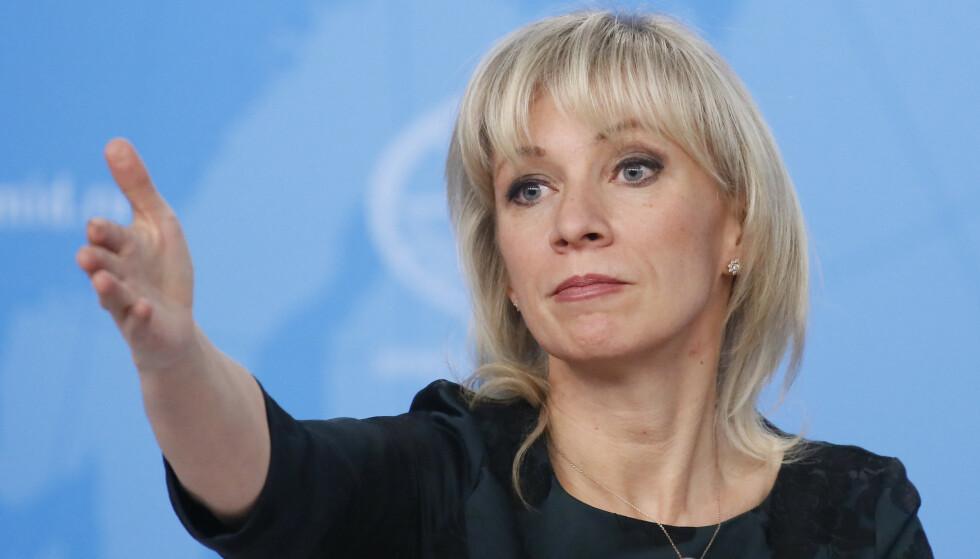 Det russiske utenriksdepartementets talsperson Maria Zakharova. Foto: NTB scanpix / REUTERS/Maxim Shemetov