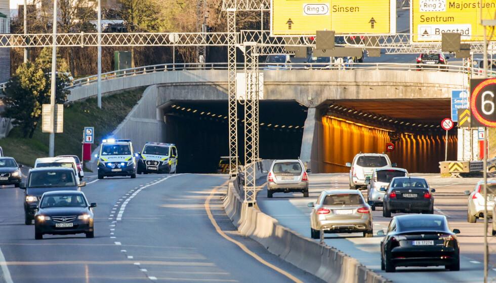 Tre sekunder i 60 kilometer i timen er 50 meter og det er avstanden man må holde til bilen foran. Foto: Lise Åserud / NTB