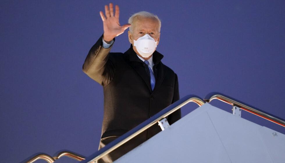 Det er ingen tvil om grunnlaget for anklagene mot tidligere president Donald Trump, mener president Joe Biden. Foto: Evan Vucci / AP / NTB