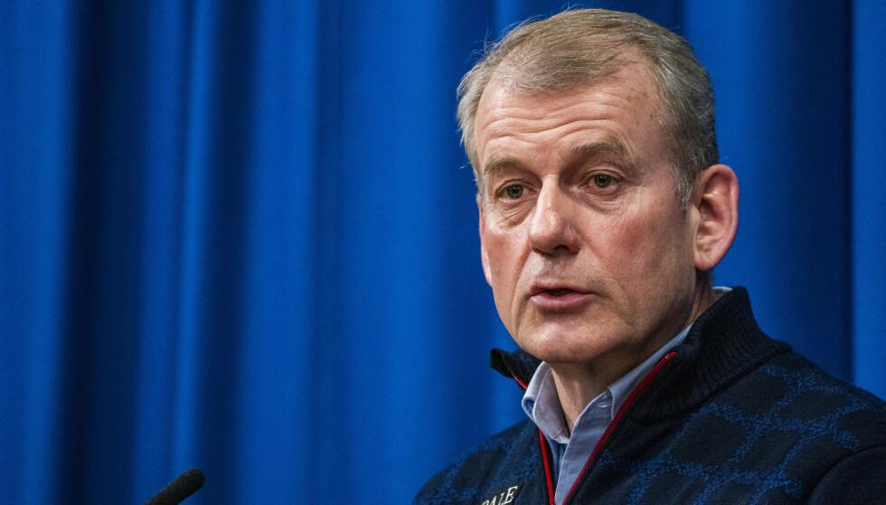 Skipresident Erik Røste ber helsetoppene ta grep. Foto: Håkon Mosvold Larsen / NTB