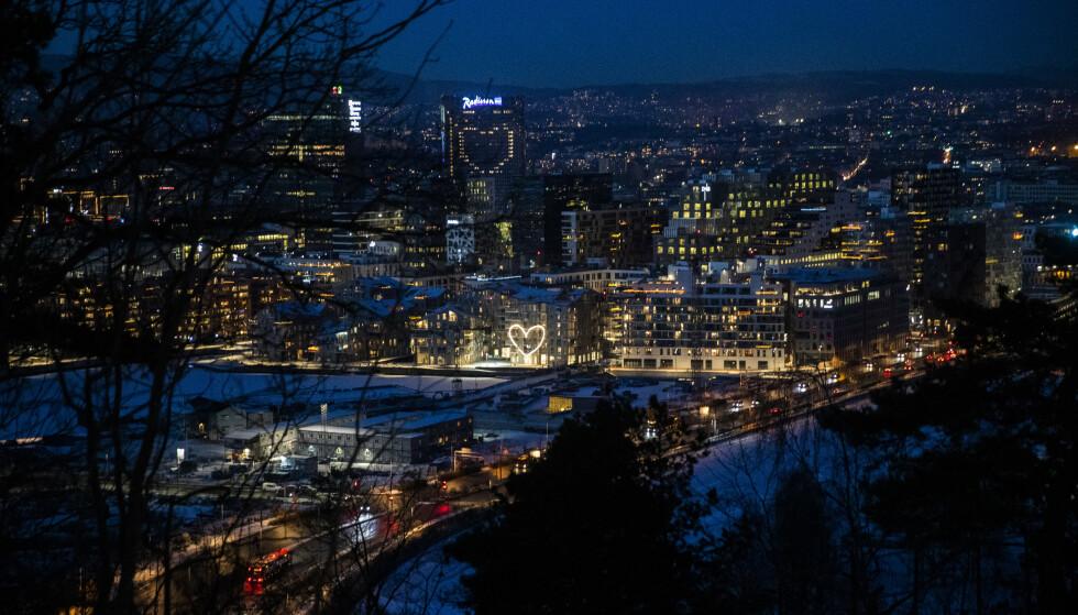 Utsikt over Oslo sentrum. Foto: Berit Roald / NTB