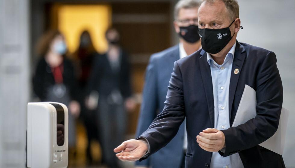 Byrådsleder Raymond Johansen (Ap) i Oslo er bekymret for økt smitte i hovedstaden etter vinterferien. Foto: Heiko Junge / NTB