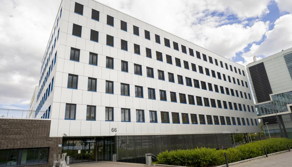 Ullern videregående skole i Oslo holdes stengt ut uken på grunn av en uoversiktlig smittesituasjon. Foto: Fredrik Hagen /NTB
