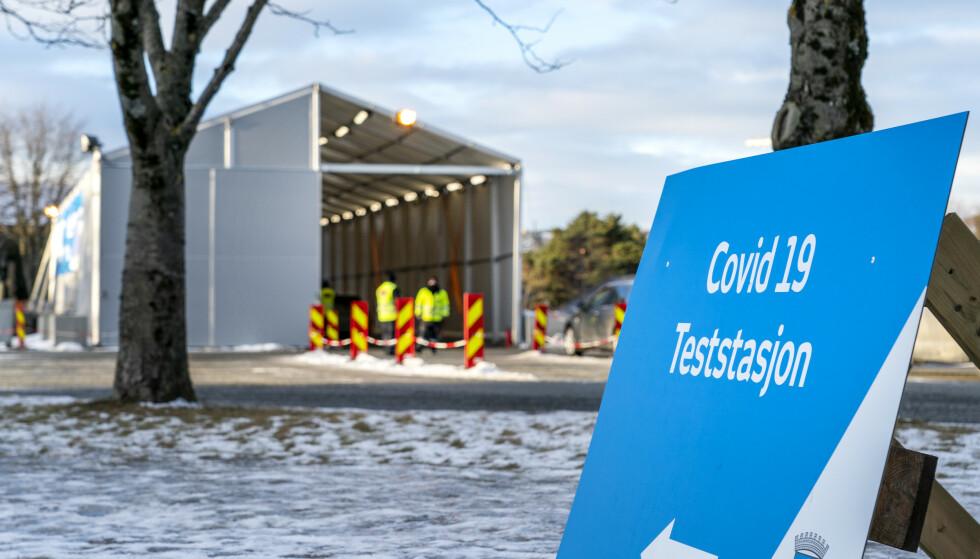Teststasjonen på Leangen i Trondheim. Foto: Gorm Kallestad / NTB
