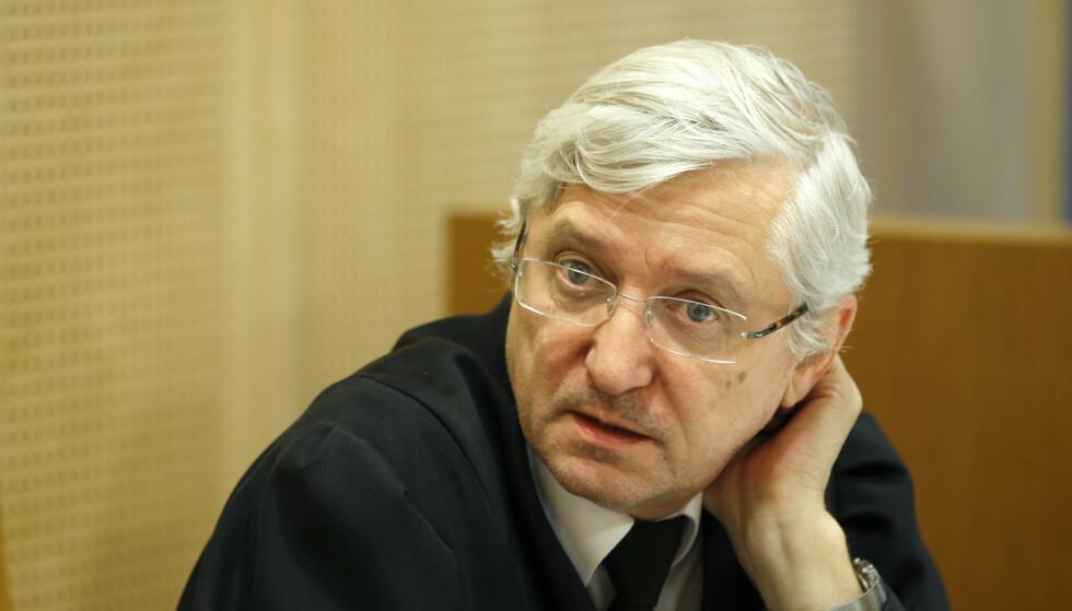 Advokat Arvid Sjødin forsvarer Baneheie-dømte Viggo Kristiansen. Foto: Terje Pedersen / NTB