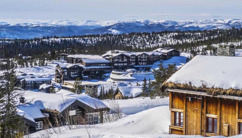 Hytter og Norefjell Ski & Spa på Norefjell. Norefjell Skisenter. Foto: Halvard Alvik / NTB