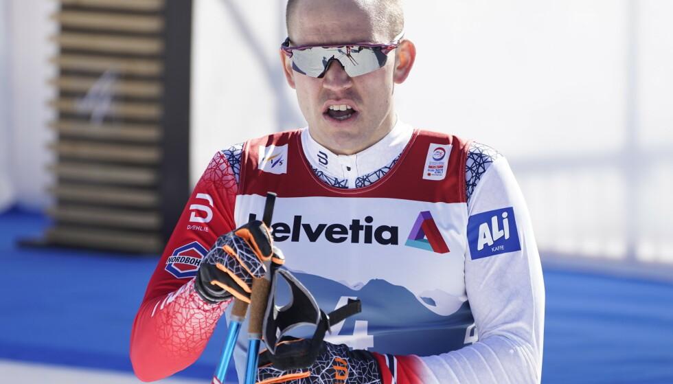 Pål Golberg får ikke gå lørdagens tremil i VM. Foto: Terje Pedersen / NTB