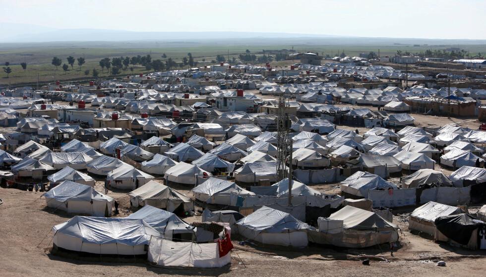 Al-Hol-leiren fotografert våren 2019. (Foto: Reuters/NTB)
