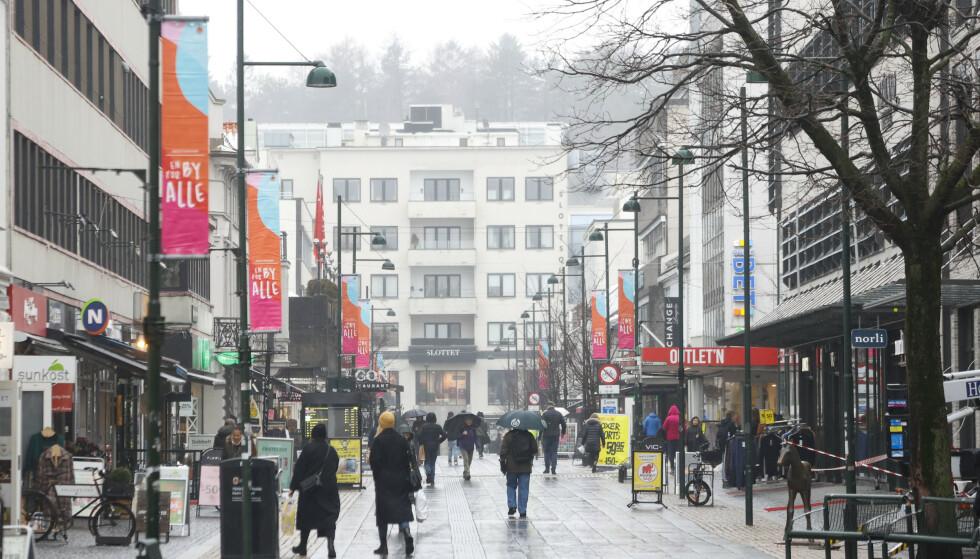 414 av innbyggerne i Kristiansand har fått påvist corona i februar. Søndag ble det registrert ti nye smittetilfeller. Foto: Tor Erik Schrøder / NTB