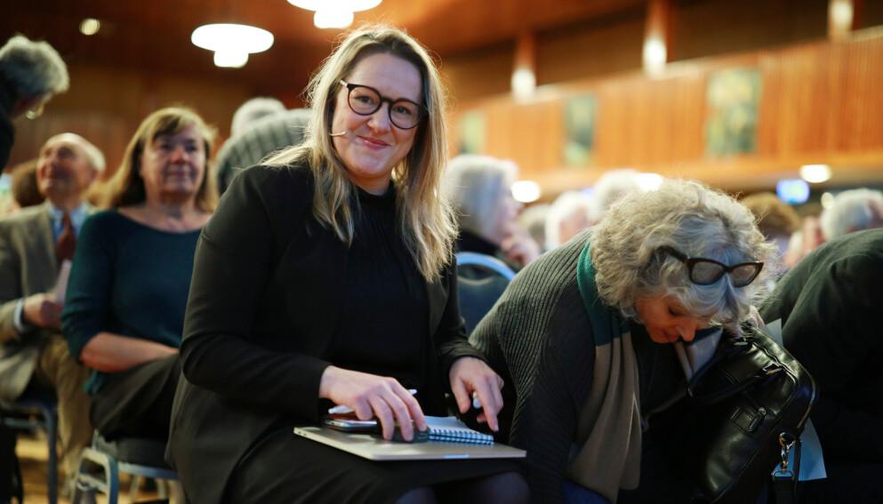 I 2018 møtte Marte Michelet historikere til debatt etter utgivelsen av «Hva visste Hjemmefronten?». Foto: Ørn E. Borgen/NTB