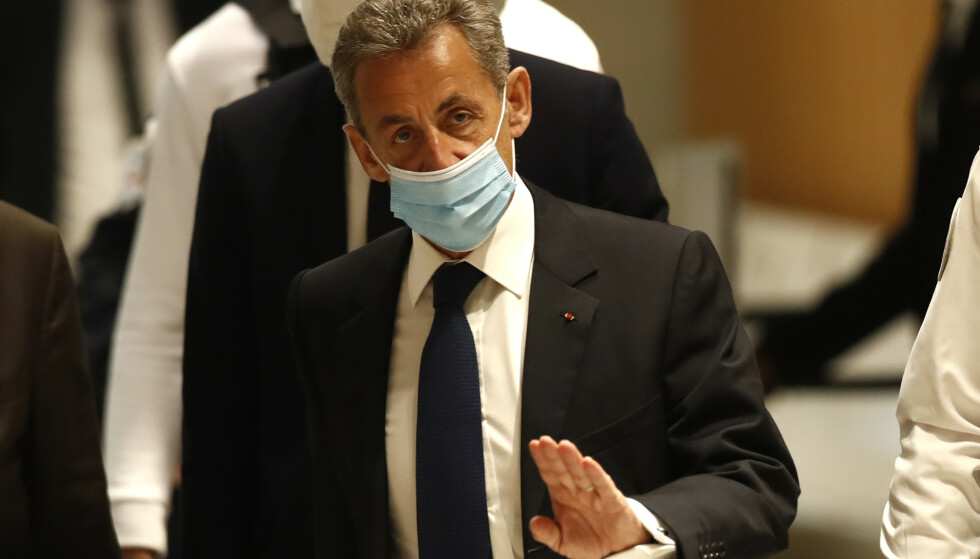 Nicolas Sarkozy er funnet skyldig i korrupsjon. Foto: AP/NTB