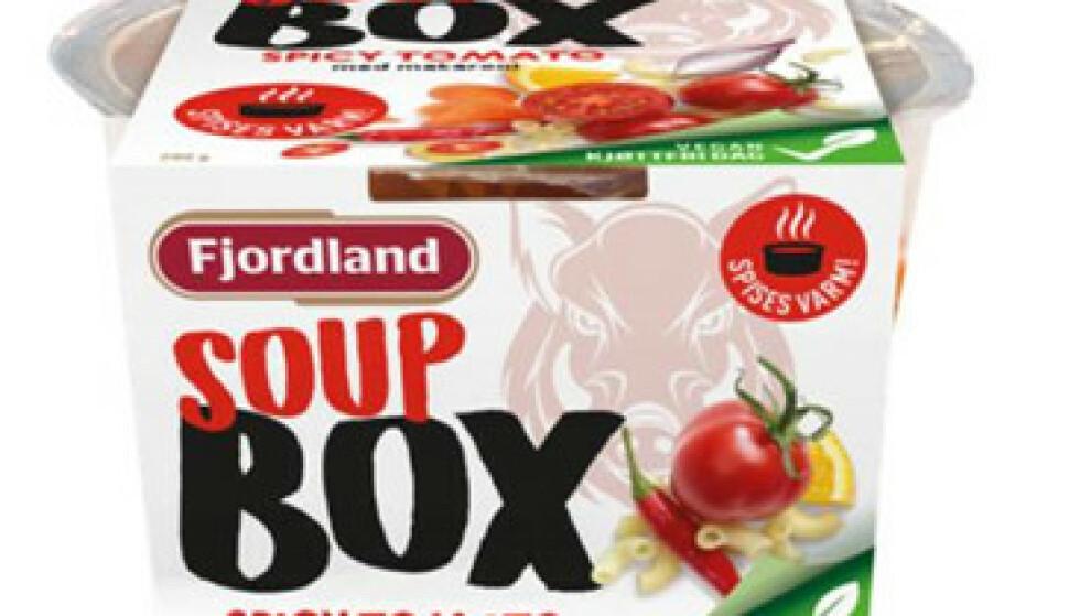Fjordland AS kaller tilbake Fjordland BOX Spicy Tomato soup 280 g. Foto: Fjordland / NTB