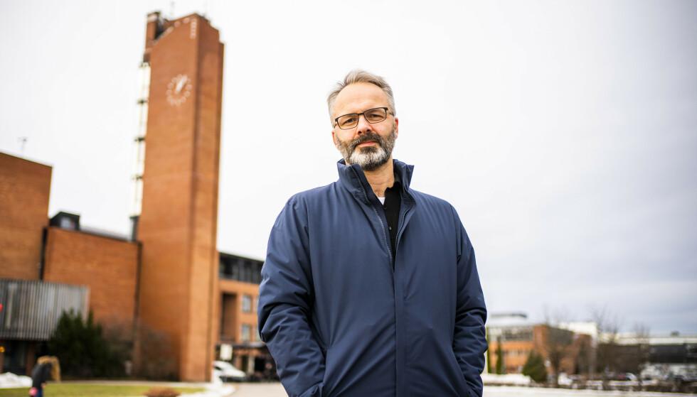 Lillestrøm-ordfører Jørgen Vik (Ap) ved Lillestrøm rådhus. Foto: Håkon Mosvold Larsen / NTB