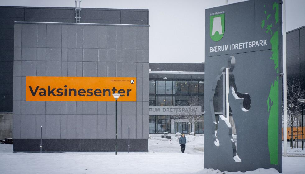 Vaksinasjonssenteret på Rud i Bærum. Foto: Heiko Junge / NTB