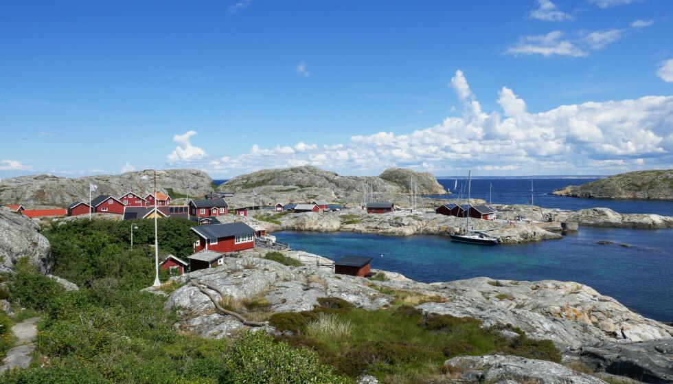 Hytter på Väderöarna i Bohuslän i Sverige. Foto: Erik Johansen / NTB